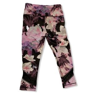 Velocity Cropped Workout Leggings Floral